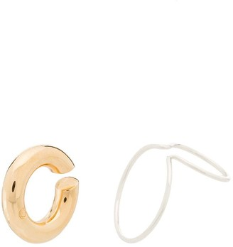 Saskia Diez Wire sterling silver and gold-tone ear cuffs