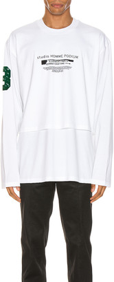 Givenchy Long Sleeve Tee in White | FWRD