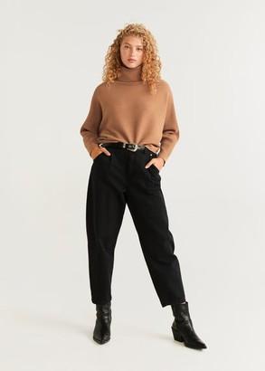 MANGO Structured turtleneck sweater