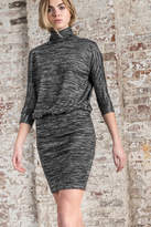 Lilla P Turtleneck Blouson Dress