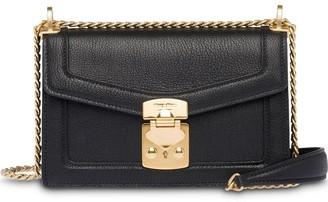 Miu Miu Miu Confidential madras leather bag