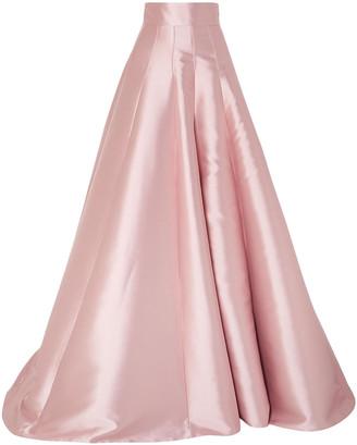 Brandon Maxwell Satin Maxi Skirt