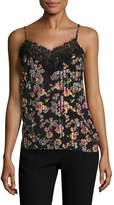 ABS by Allen Schwartz Women's Pleated Floral Front Camisole