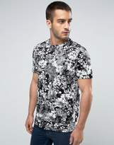 New Look T-Shirt With Dark Floral Print In Black