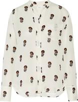 A.L.C. Julie printed silk crepe de chine shirt
