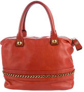 Chloé Chain-Accented Leather Satchel