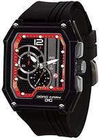 Jorg Gray JG7100-23 Men's Watch Chronograph Integrated Silicone Strap Black- Dial Rectangular Case