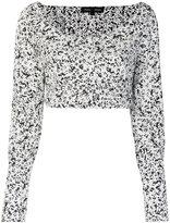 Proenza Schouler cropped wrap top - women - Cotton - 4