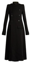 Haider Ackermann Contrast-collar raw-edge coat