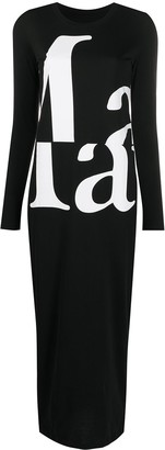 Maison Margiela Logo-Print Maxi Dress