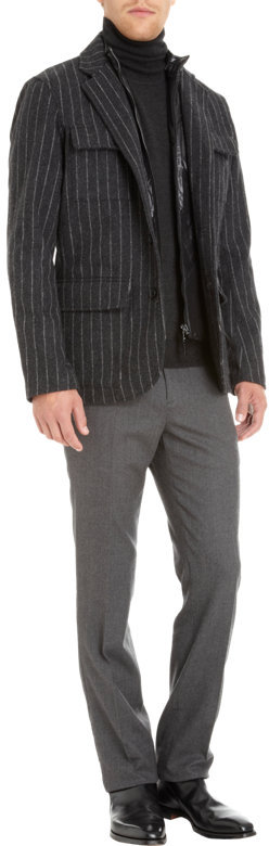Michael Kors Pinstripe Sportcoat with Removable Vest
