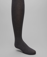 Me Moi Heather Charcoal Pima Tights - Toddler & Girls