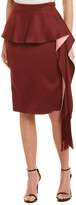 Thumbnail for your product : Alexander McQueen Pleated Layered Midi Silk Skirt
