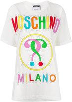 Moschino logo paper cut out T-shirt - women - Cotton - XS