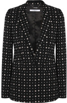 Givenchy Blazer In Printed Stretch-crepe - Black