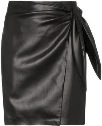 Nanushka Iowa tie-waist vegan leather mini skirt