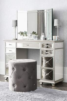 Next New Florence Dressing Table - Silver