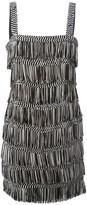 Christian Dior pre-owned fringed mini dress