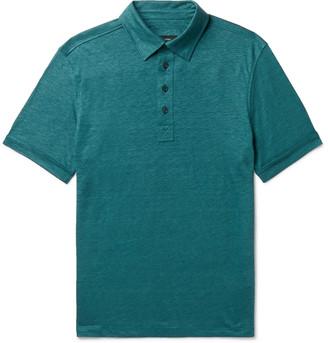 Ermenegildo Zegna Slub Linen Polo Shirt