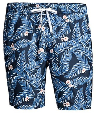 Onia Charles Tropical Leaf Swim Trunks