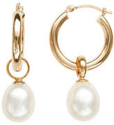 Honora Style 8MM-9MM Pearl and 14K Yellow Gold Hoop Drop Earrings