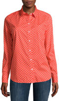Liz Claiborne Long-Sleeve Button-Down Cotton Shirt - Tall