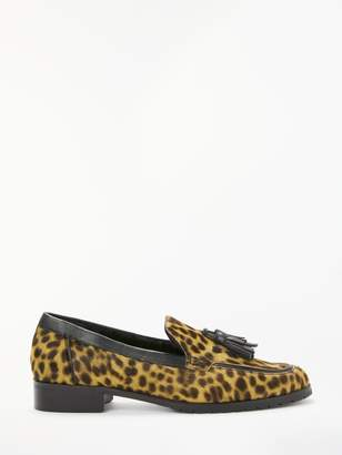 Boden Aria Shearling Leopard Print Loafer, Tan