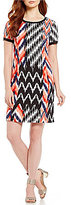 Jones New York Ikat Print Shift Dress