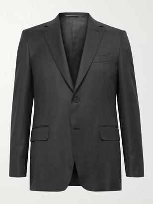 Canali Slim-Fit 130s Sharkskin Wool Suit Jacket