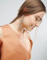 Asos Statement Rose Gold Crystal Strand Earrings