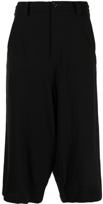 Y's Drop-Crotch Cropped Trousers