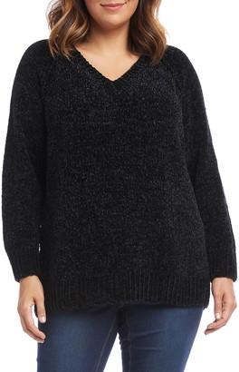 Karen Kane V-Neck Chenille Sweater