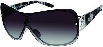 Rocawear Women's R681 Rectangular Shield Sunglasses with 100% UV Protection 72mm