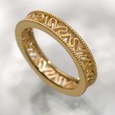 Simply vera vera wang 18k gold-over-silver signature ring