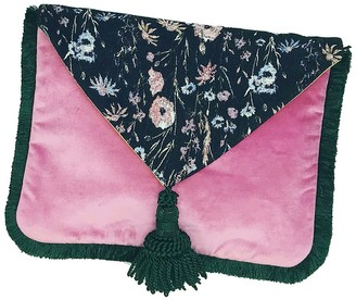 Stranger Than Them Iris Botanical Jacquard & Velvet Clutch Bag & Tablet / IPad Holder