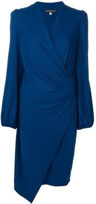 Plein Sud Jeans gathered detail midi dress