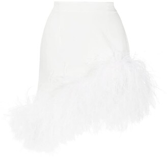 16Arlington Vivien feather-trimmed mini skirt