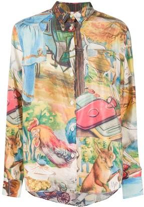 Soulland Viva patterned shirt