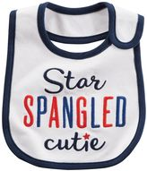 "Carter's Baby Star Spangled Cutie"" Embroidered Bib"