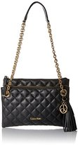 Calvin Klein Quilted Organization Cross Body Bag