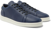 Balenciaga Urban Low Textured-leather Sneakers - Navy