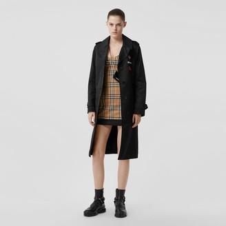 Burberry Vintage Check Stretch Jersey Corset Dress