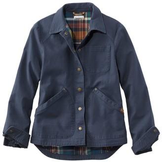 L.L. Bean Women's Signature Canvas Jacket, Flannel-Lined