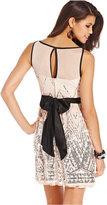 Crystal Doll Juniors' Sequin A-line Dress