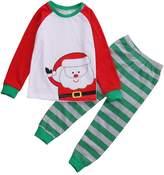 Albee Yang Baby Christmas infant clothing Boys 2pcs long sleeve Pajamas Two-piece Pajamas