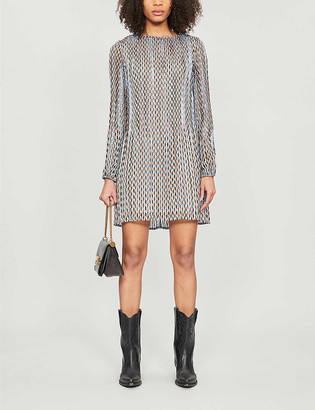 Maje Rockilane geometric-print crepe mini dress