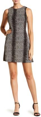BeBop Sparkly Leopard Sheath Dress