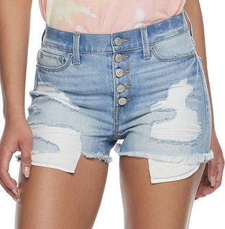 Mudd Juniors' High Rise Exposed Button Shorts