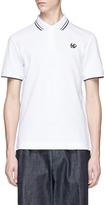 McQ Swallow skull appliqué polo shirt