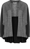 Studio Plus Size Open front two tone cardigan